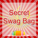 "Exciting image with the words ""Secret Swag Bag"" on it."