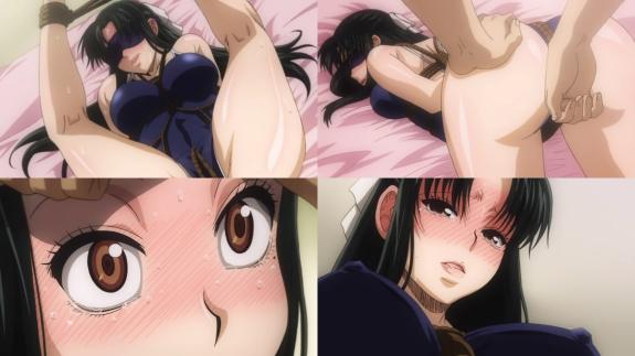 Kaoru showing Nana how turned on she is.