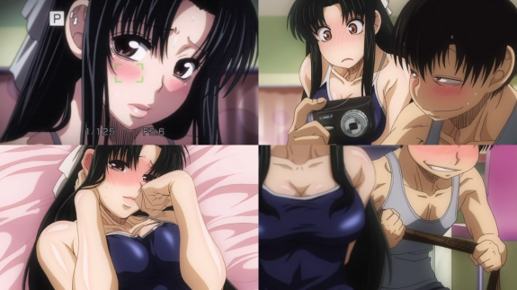 Nana in swimsuit and Kaoru with camera 2.